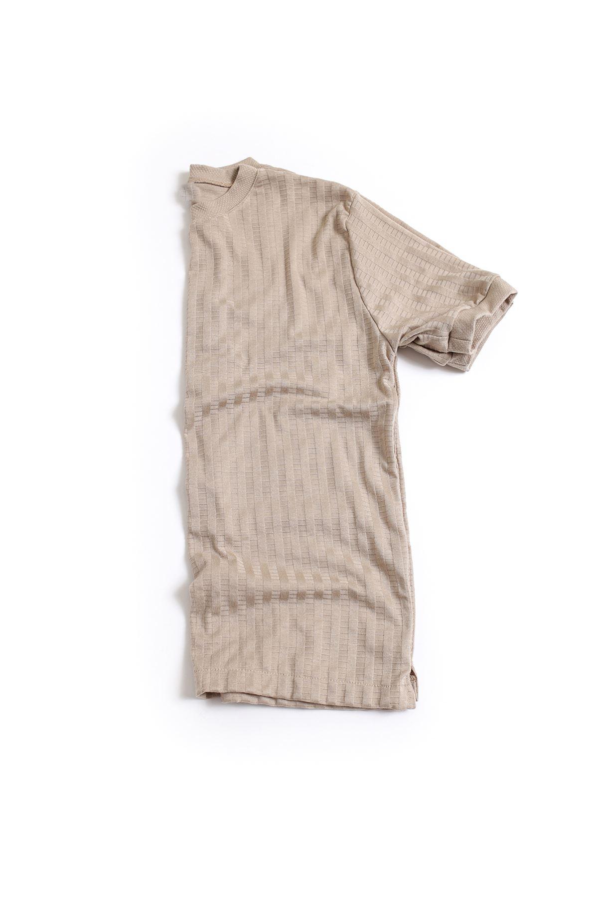 Vizon Pamuklu Triko T-Shirt