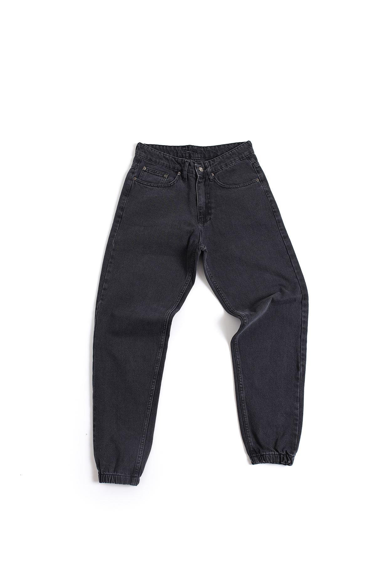 Siyah Boyfriend Kot Pantolon