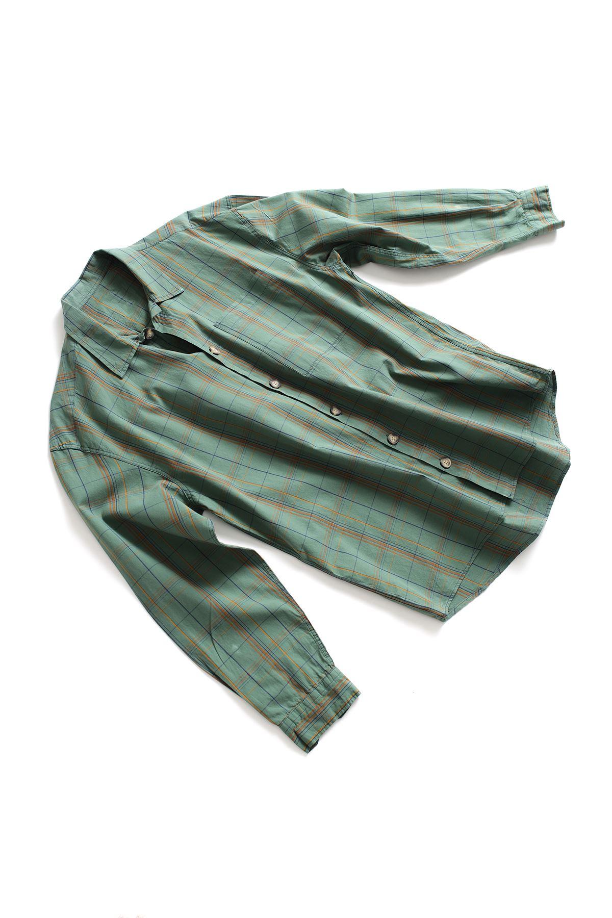 Yeşil İndigo Gömlek