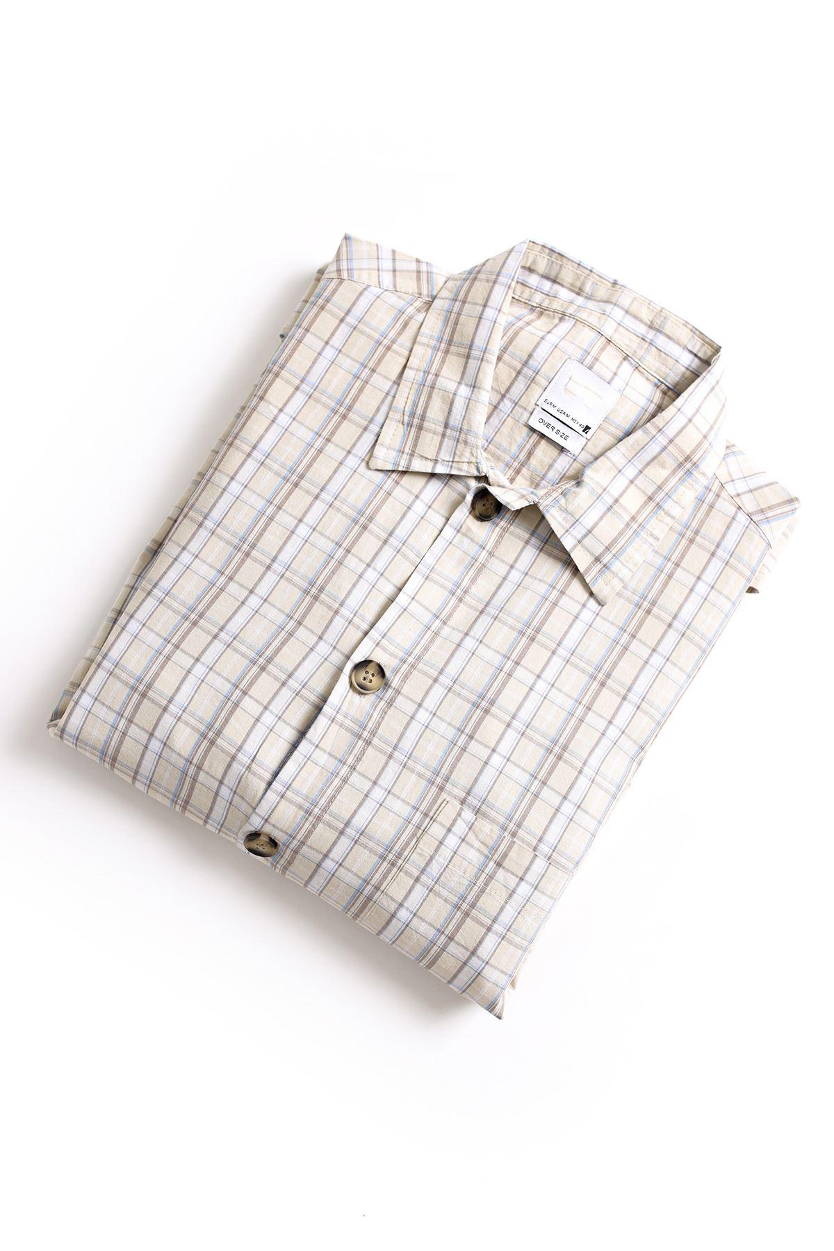 Bej İndigo Gömlek