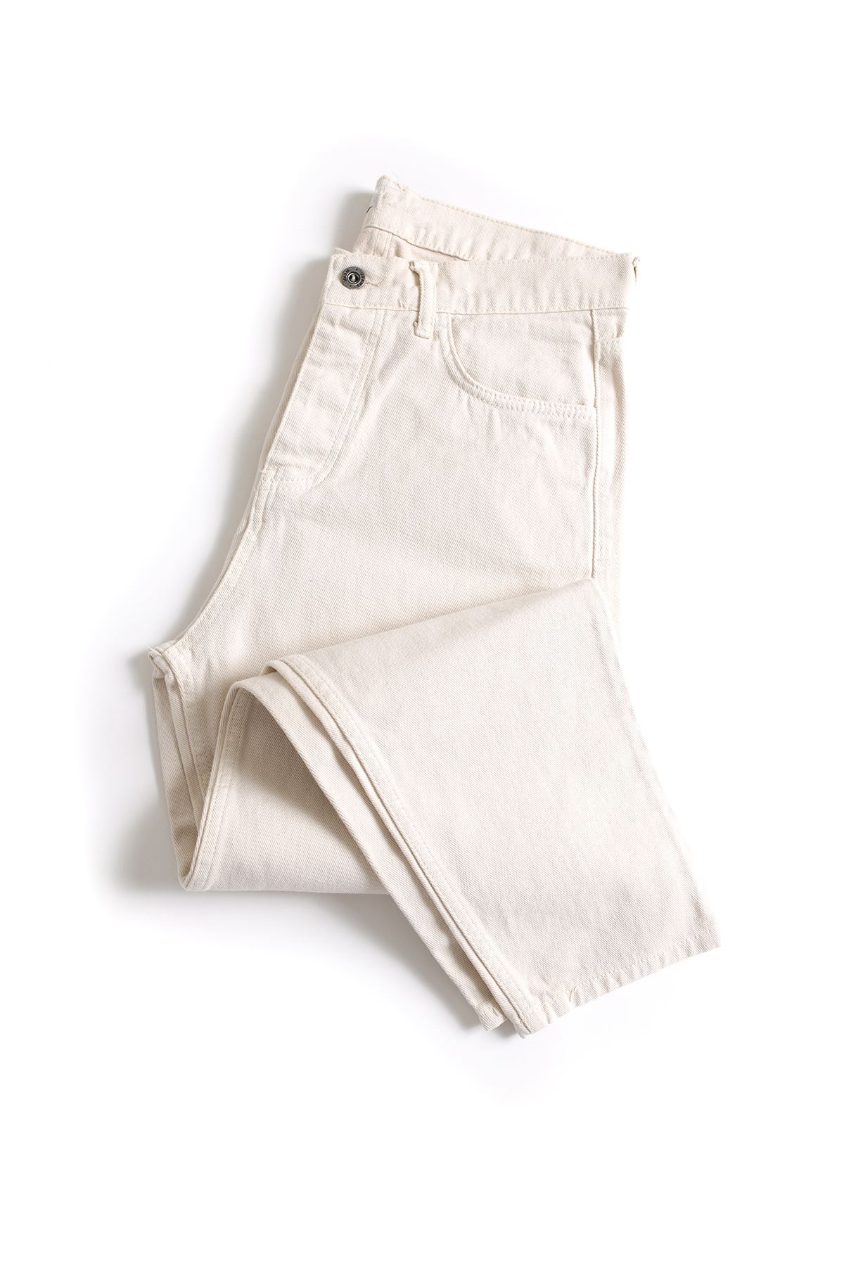 Bej Boyfriend Kot Pantolon