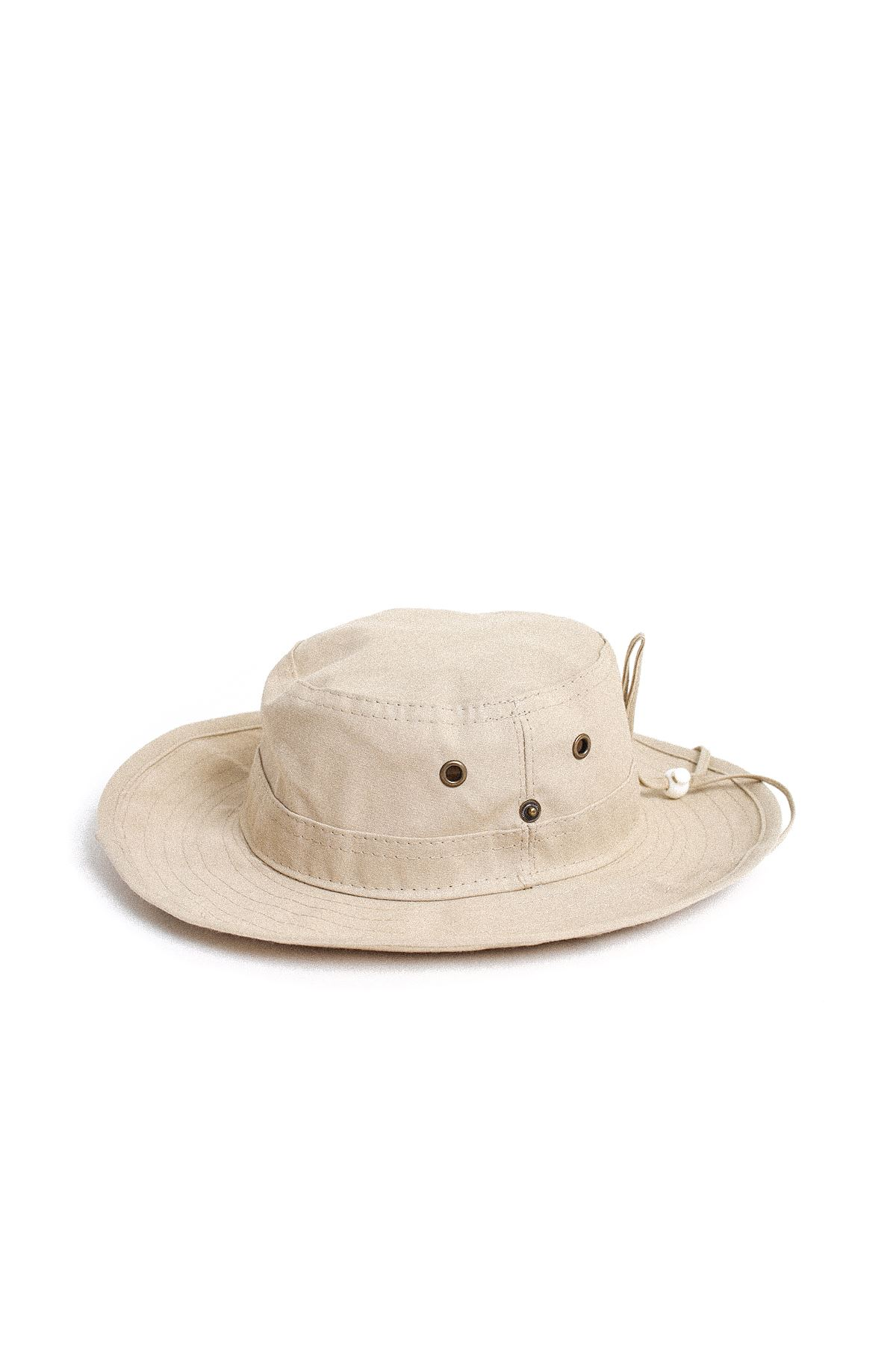 Bej Bucket Şapka