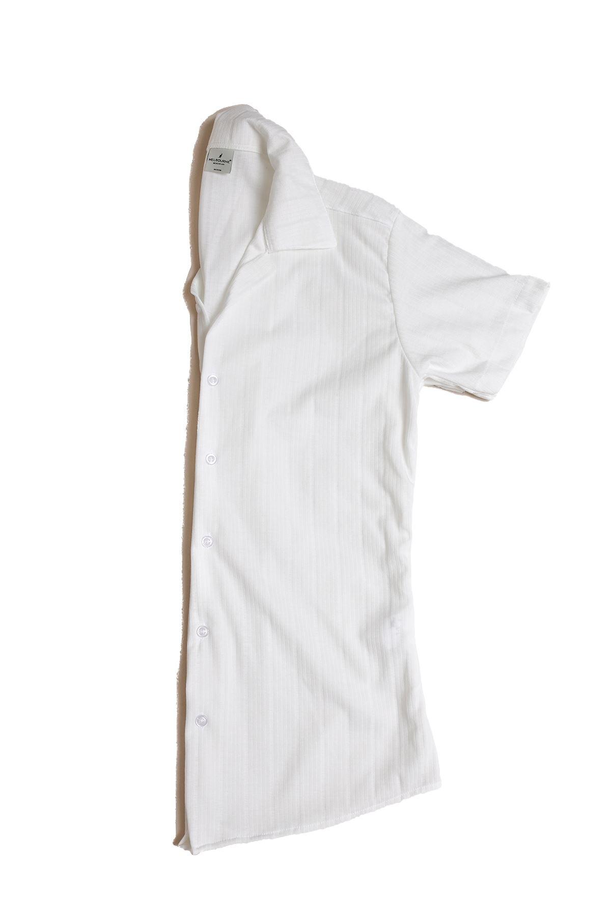 Beyaz Triko Gömlek
