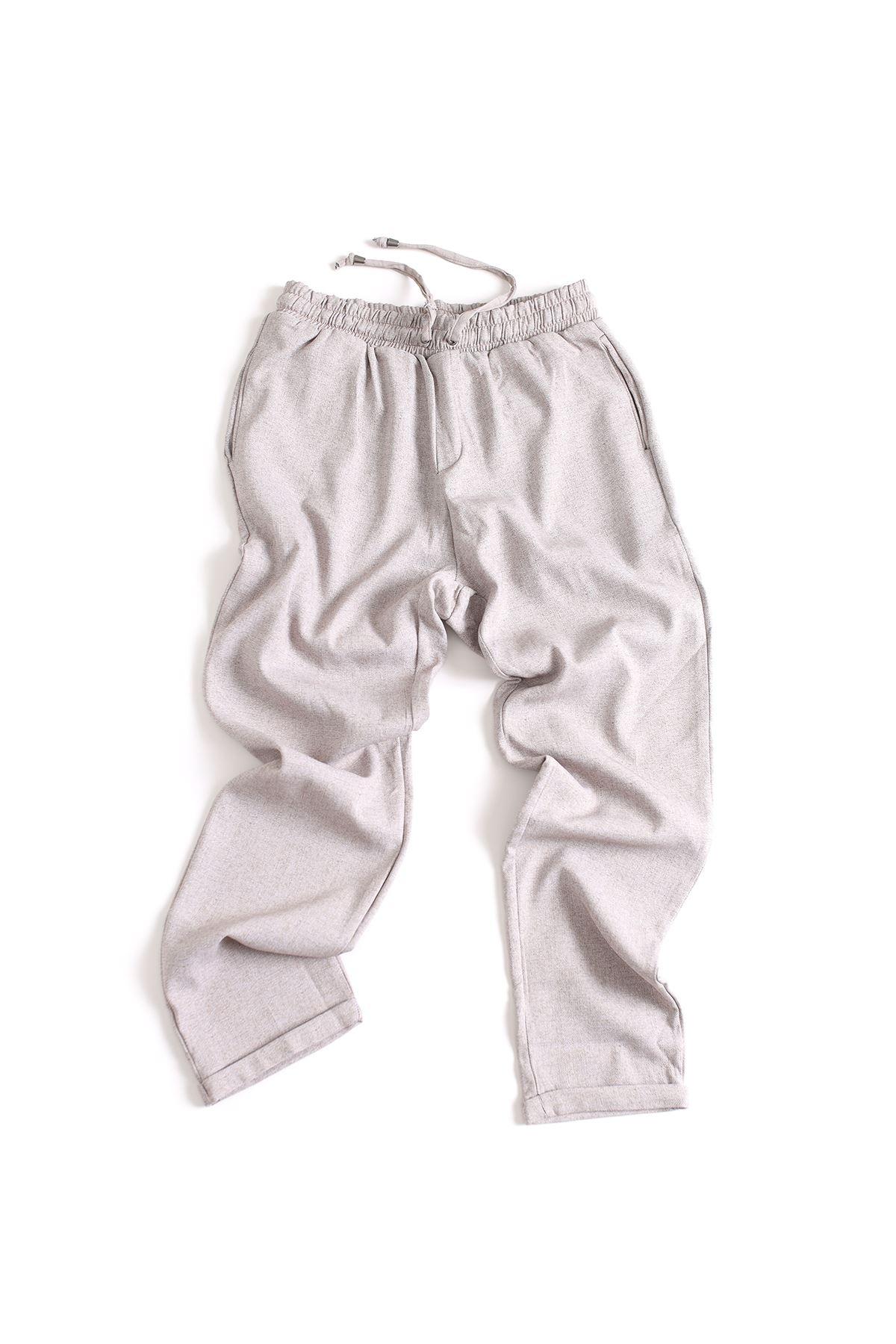 Düz Paça Kirli Bej  Klasik Jogger Pantolon