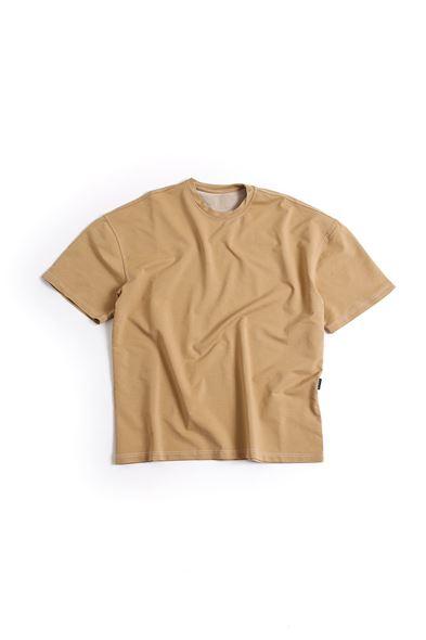 Bej Pamuklu T-Shirt