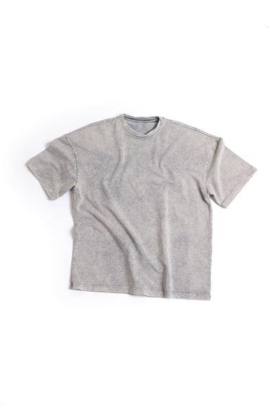 Gri Pamuklu T-Shirt