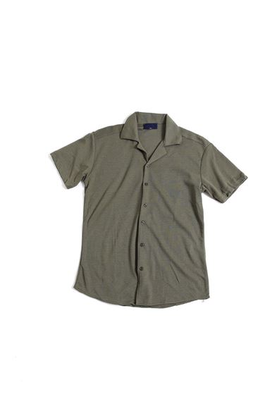 Koyu Yeşil Triko Gömlek
