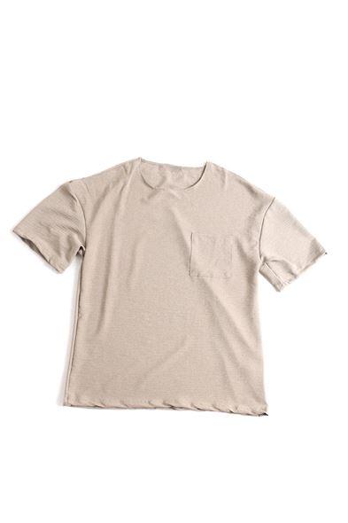Cepli Kahve Keten T-Shirt